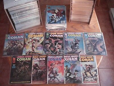 Savage Sword of Conan Huge lot of 364 comics with near full run only missing 2
