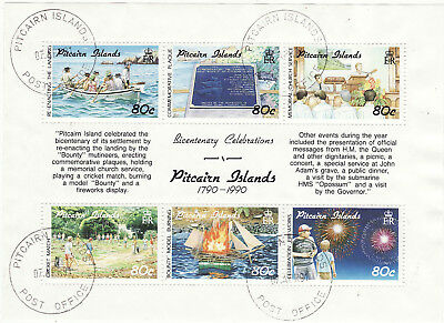 Pitcairn Islands - 1991 Bicentenary Of Pitcairn Island Settlement Used 4Th Issue