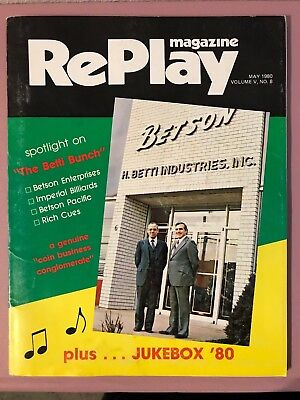 RePlay Magazine May 1980 w/ Firepower, Rolling Stones & Space Invaders foldouts