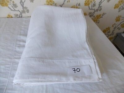 Vintage French Linen/metis Sheet  - 2.24mW x 3.18mL