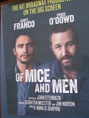 Of Mice & Men James Franco, Chris O'Dowd  National Theatre Live  Poster