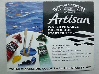 Winsor & Newton 21 ml Artisan Water Mixable Oil Colour Starter Set (Pack of 6) b