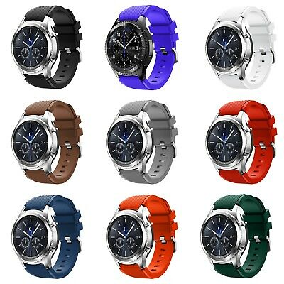 Samsung Galaxy Watch 46mm Gear S3 Frontier Classic Silikon Armband Uhr 22mm