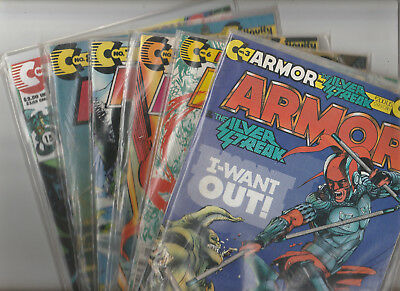 ARMOR #3,5,6,7,8,(v2) #3 lot of 6 Continuity Comics 1990's VF/Fine condition