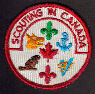 "Boy Scouts Canada ""scouting In Canada"" Patch Cubs Beavers Venturers Sea Scout"