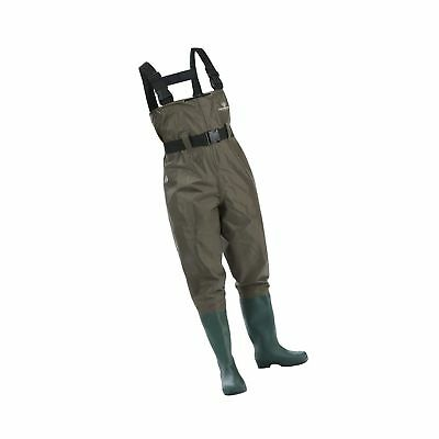 Waterproof Chest Waders Nylon PVC Cleated Bootfoot Wading For Fishing Hunting