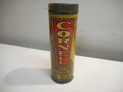L2208- Antique Cornell Tire Tube Repair Kit  Advertising Tin Can Automobile OIL