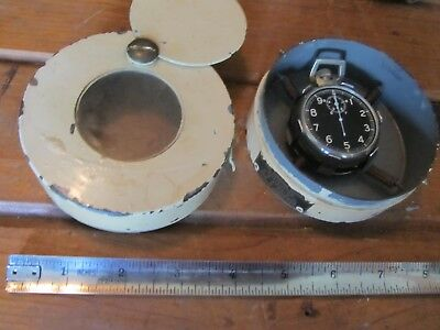 USAAF WW2 Original Elgin 10 Second Time Flight Watch Navigation Complete W/Case