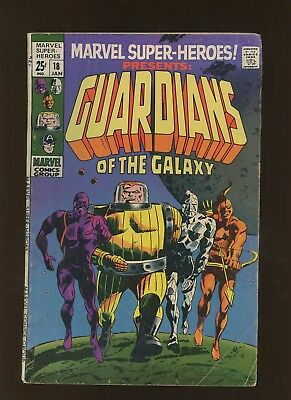 Marvel Super-Heroes 18 VG+ 4.5 * 1 Book Lot * 1st Guardians of the Galaxy!