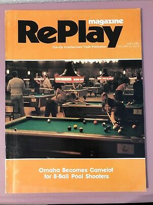 RePlay Magazine May 1981 w/ Eight Ball Deluxe & Jungle Lord pinball flyers