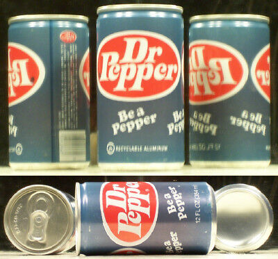 Dr Pepper Misprint Soda Pop Air Filled Can Joyce Beverage Chicago Illinois SC254