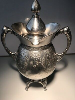 Antique Meridian B Co. #1903 Teapot/Coffee Silver Plated Dining With Lid Cover