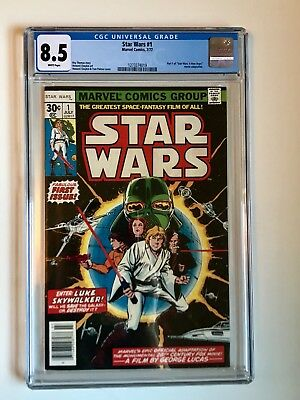 STAR WARS #1 Comic Book 1977- First Print CGC graded 8.5. Just received from CGC