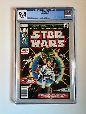 STAR WARS #1 Comic Book 1977- First Print CGC graded 9.4. Just received from CGC
