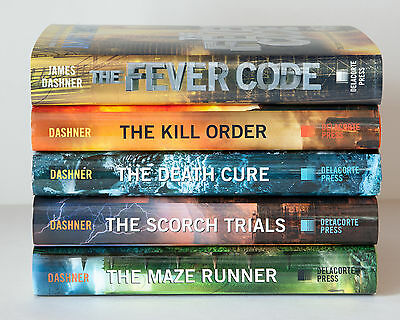 Lot of 5 (#1-5) MAZE RUNNER Complete Series Set of 1st Printing HARDCOVER Books