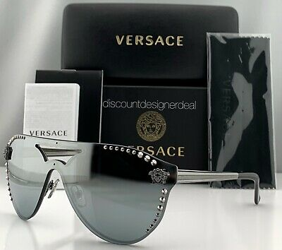Versace GLAM MEDUSA VE2161B Sunglasses Pale Gold | Gold Mirror 1252/5A