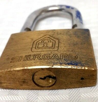 Vintage Heavy Duty Shugard Brass And Steel Lock With No Key