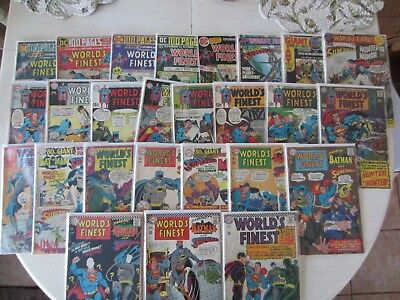 Huge Lot Over 80 Diff Worlds Finest Comics 159 - 323 Superman Batman