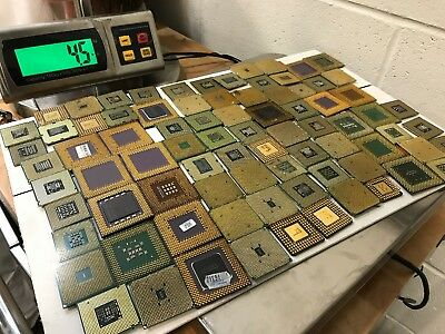 Mixed Lot of 75 Intel AMD Ceramic Computer CPU for Scrap Gold Recovery 4.5LB