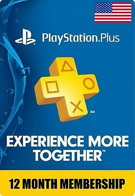 Sony PlayStation Plus 1 Year / 12 Month Membership Subscription