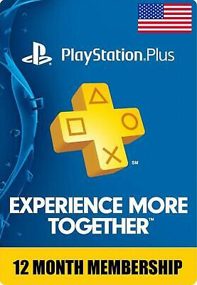 Sony PlayStation Plus 1 Year Membership Subscription *US REGION*