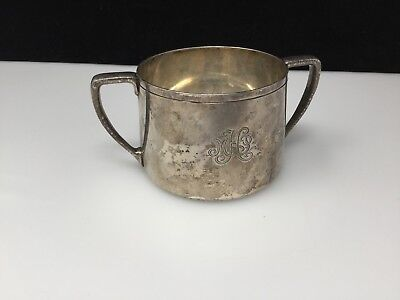 Antique Tiffany & Co. Sterling Silver (.925) 2 Handled Cup Monogrammed