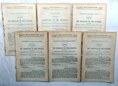 1864 INDIANS (6) Reports – Chippewa, New York Indians, Shoshonees, Appropriation
