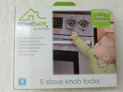 Home Safe by Summer Stove Knob Covers, 5-Pack, Non adhesive