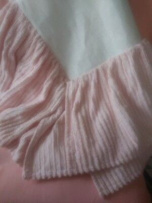 Vintage Inspired Pink Chenille Crib Bedskirt EUC For Use or Cutter