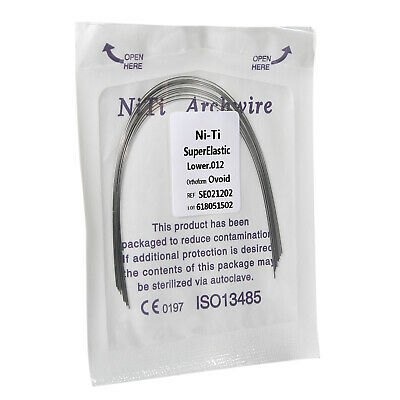 1 Kit Dental Orthodontic Super Elastic Niti Round Arch Wire Ovoid Form 12 Lower