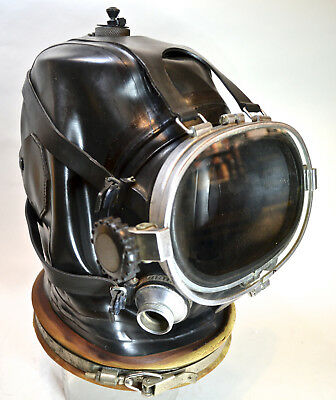 Rare Drager Over-the-Head Diving Mask/Helmet with Faceplate that Opens