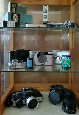 Subminiature Camera Collection - Minox Minolta Tessina Pentax Rollei Kodak & HIT