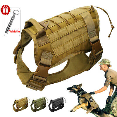 K9 Tactical Dog Harness No Pull Training Molle Vest Large Breed German Shepherd