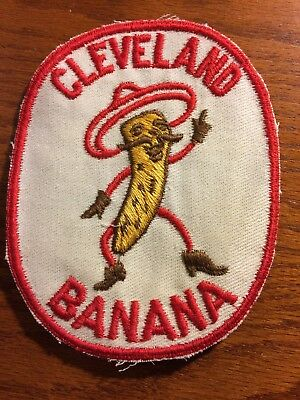 UNUSED Embroidered Advertising Cleveland Banana ? Shirt  Patch