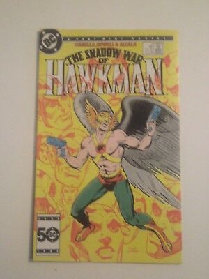 Shadow War of Hawkman #2 1985 VF autographed by Tony Isabella in 1990