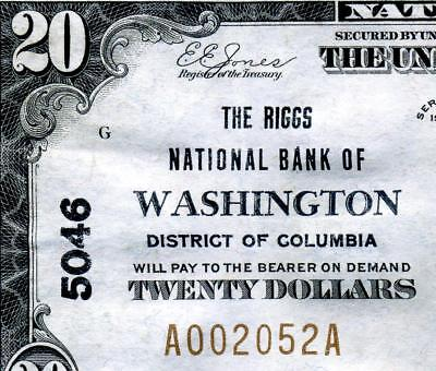 HGR SUNDAY 1929 $20 WASHINGTON D.C. ((WANTED Capital Issue)) VERY HIGH GRADE