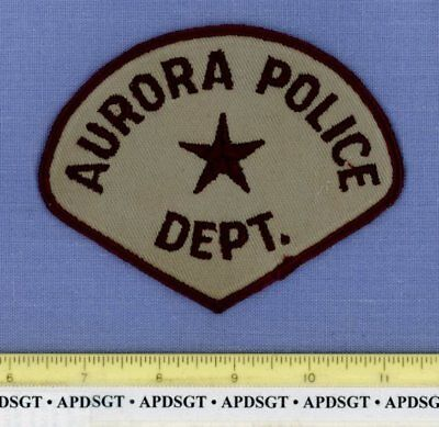 AURORA #2 (Old Vintage)  COLORADO CO Sheriff Police Patch STAR MESH BACK