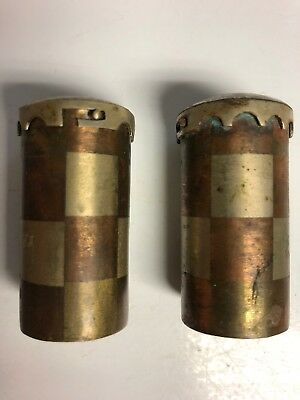 Vintage Rare Mexico Taxco Salt And Pepper Shakers/ Containers