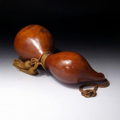 QH9: Vintage Japanese Lacquered Calabash Ornament, Hyotan, GOURD, 13.4 inches