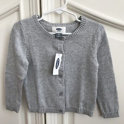 NEW! Old Navy Baby Toddler Girl Gray Long Sleeve Cardigan 2T