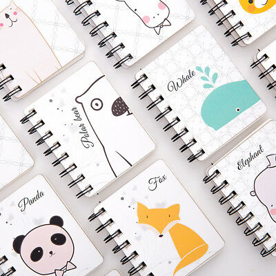 Cute Animal Cartoon Spiral Notebook Portable Daily Note Pads Schedule Notebook