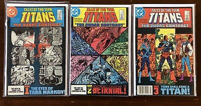 Tales Of The Teen Titans, Judas Contract Complete! #42,43,44,Ann. 3, HIGH GRADE!
