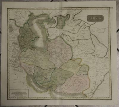 Iran Afghanistan Central Asia 1817 Thomson Antique Original Copper Engraved Map