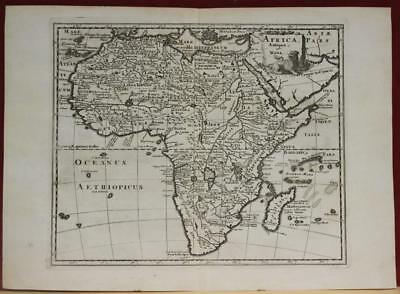 African Continent 1683 Philip Clüver Unusual Antique Copper Engraved Map