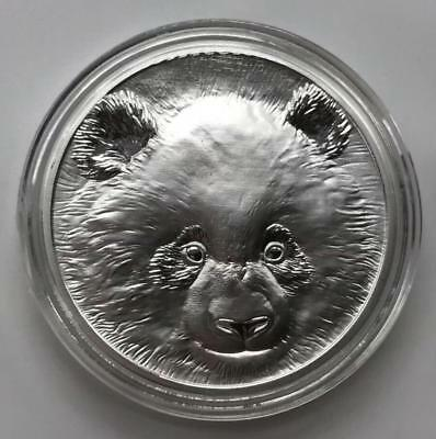 2018 China Beijing Coin Expo Silvered Panda Medal with COA, Bag Mintage:300