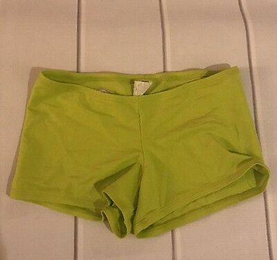 Divina Green Dance Shorts Size Adult Small