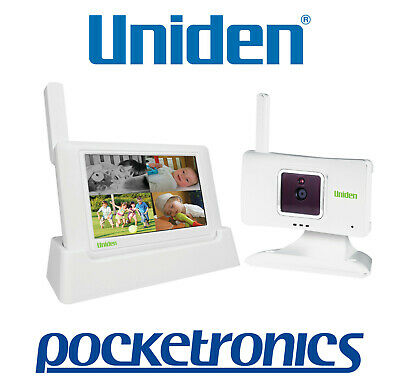 "Uniden BW3401 4.3"" Wireless Baby Video Monitor microSD Record Night Remote CCTV"