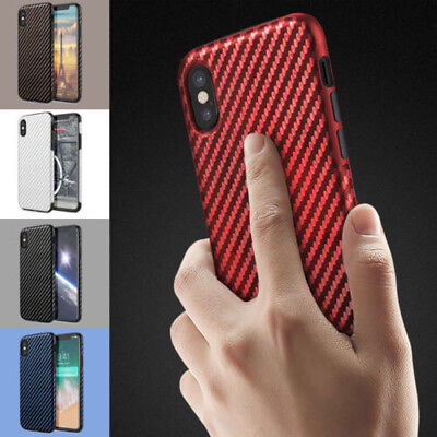 For iPhone XS Max/XS/XR 6S 7 Plus Shockproof Carbon Fiber TPU Phone Case Cover
