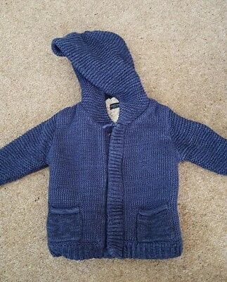 Next Hoody Cardigan Jacket 6-9 Months Excellent condition Fluffy Inside