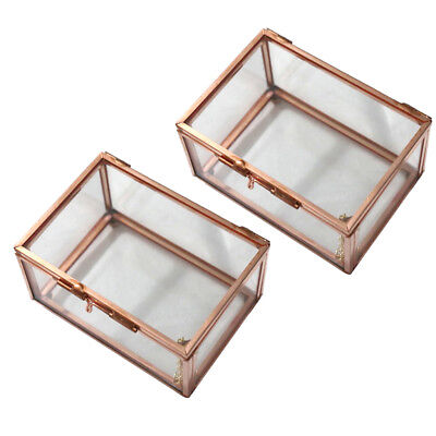2X Rectangle Glass Geometric Terrarium Box Table Succulent Air Plant Planter